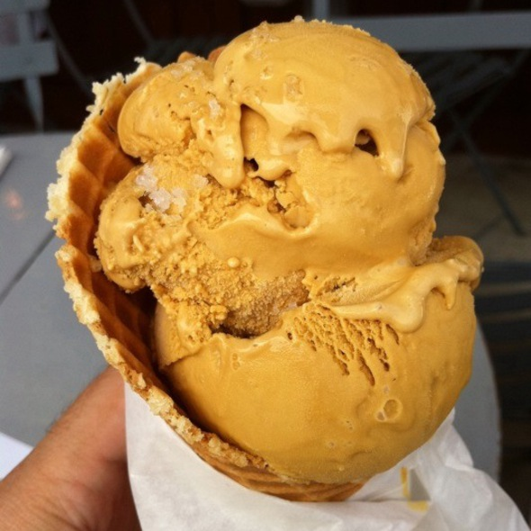 Salted Caramel Ice Cream @ Sweet Rose Creamery