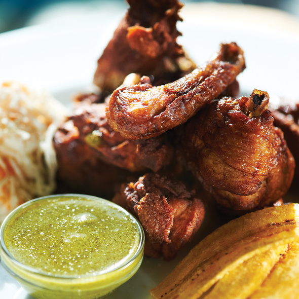 Chicharron de pollo @ Fritanga