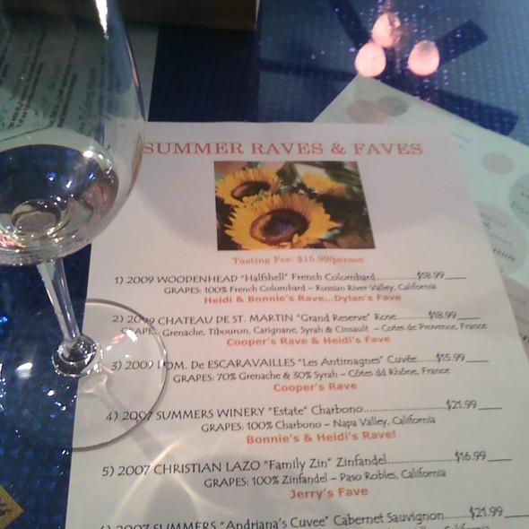 Wine Flight @ San Dimas Wine Shop