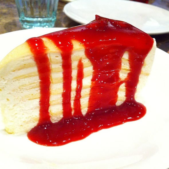 Vanilla Crepe Cake With Strawberry Sauce @ Coffee Beans By Dao