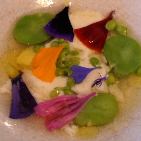 Fresh Cheese With Peas And Flowers @ Viajante