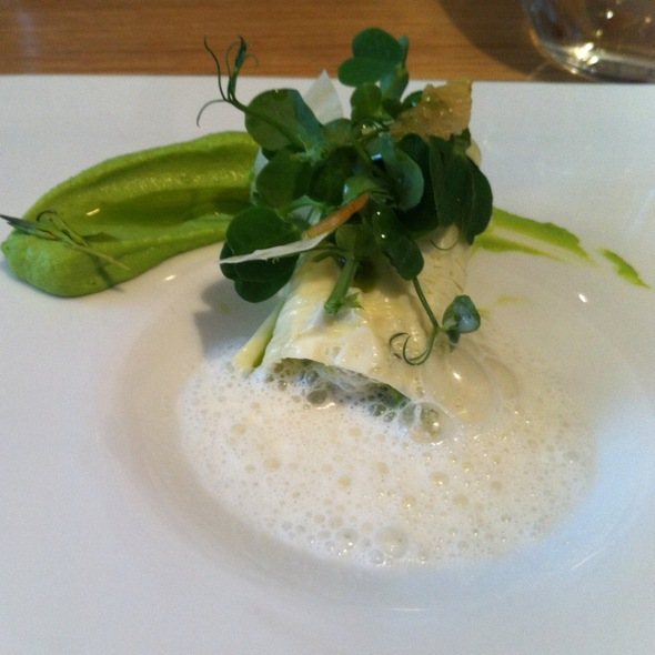 Milk Yuba With Peas & Parmesan @ Viajante