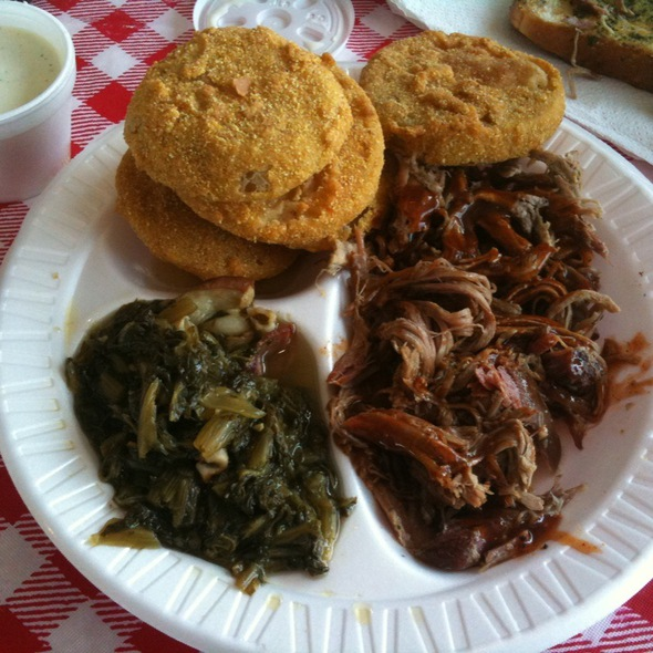 Bbq Pulled Pork, Greens, Fried Green Tomatoes @ Little Dooey