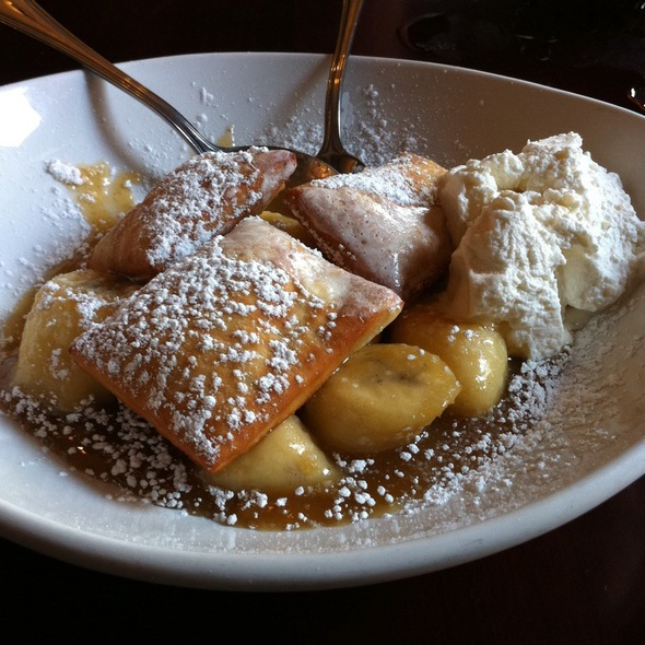 Bananas Foster With Beignets