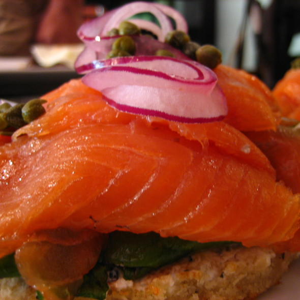 Salmon Goat Cheese Toast - The Glendon Bar & Kitchen, Los Angeles, CA