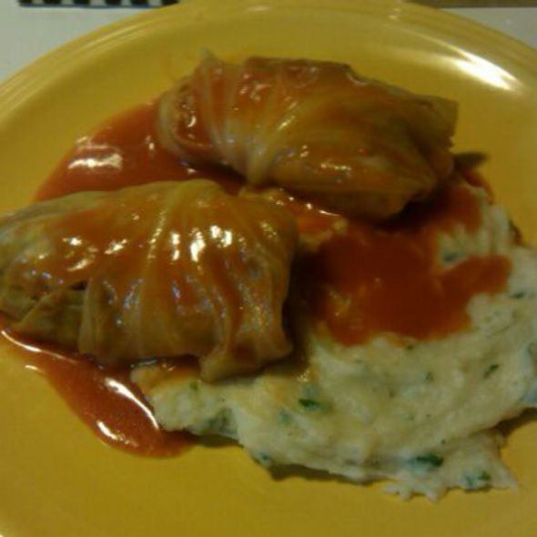 Stuffed Cabbage with Parsley Whipped Yukon Potatoes @ The Mothership