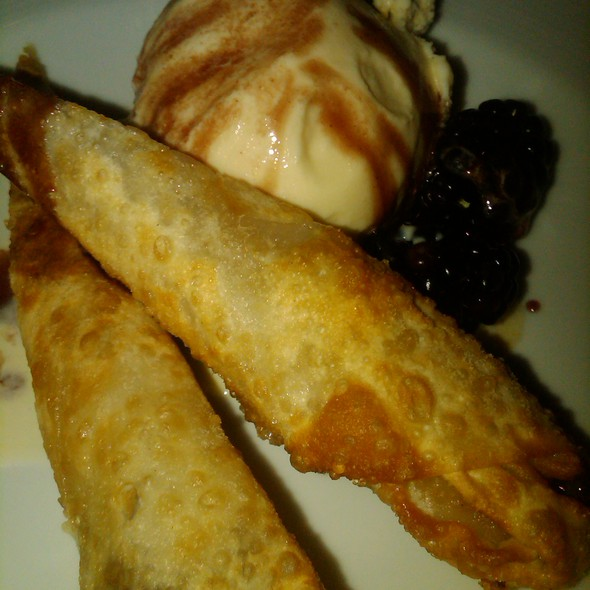 Banana Sticks with Vanilla Ice Cream  @ Azuki Sushi Lounge