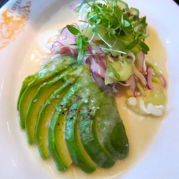 California Avocado & Hearts of Palm - cucumber, shaved onion, cilantro, lime dressing @ Wayfare Tavern