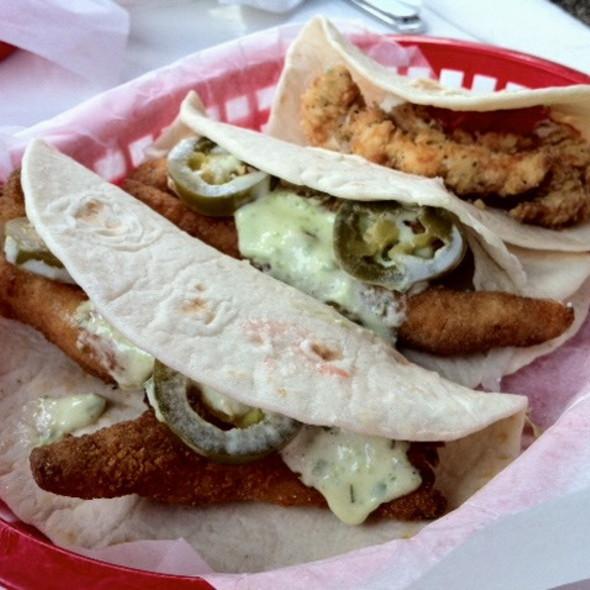 fish tacos @ Taqueria Del Sol