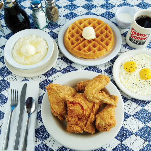 Chicken and Waffles @ Goody Goody Diner