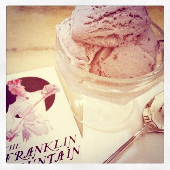 Blueberry Ice Cream @ Franklin Fountain