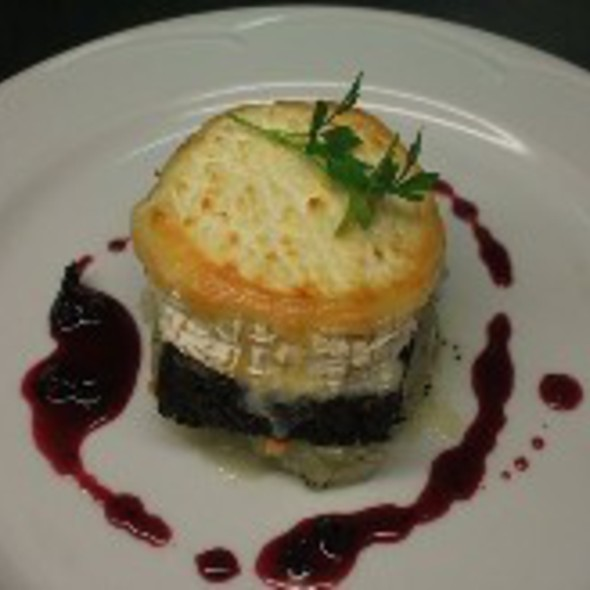 Inch House Traditional Black Pudding with Gortnamona Goats Cheese @ Inch House Country House & Restaurant