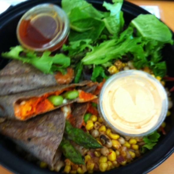 Blue Corn Asparagus Tacos @ Blue Sage Vegetarian Grille