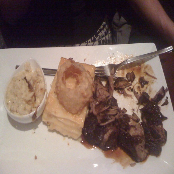 Pork Shoulder With Anson Mill Grits And Smoked Gouda Mac N Cheese - Frog Hollow Tavern, Augusta, GA