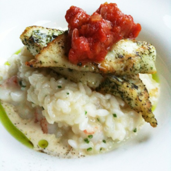 Fish With Rock Shrimp Risotto @ Skool