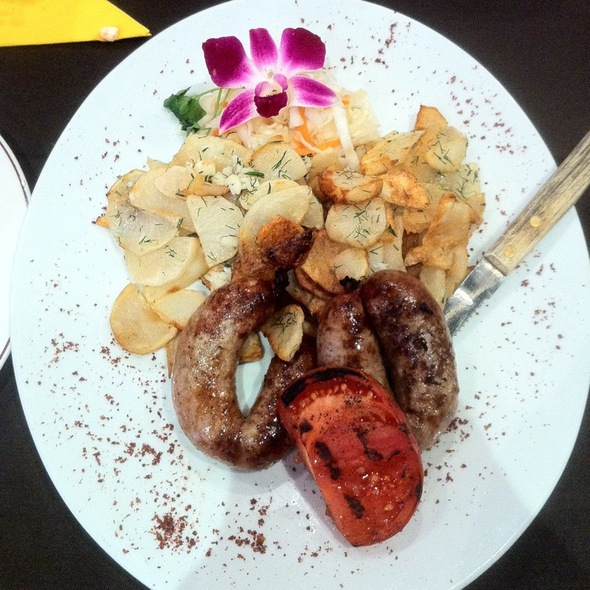 Grilled Sausages Entree - Skovorodka, Brooklyn, NY