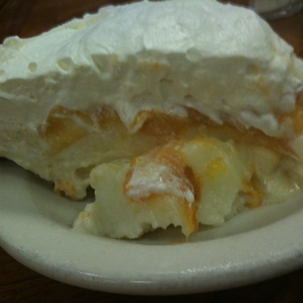 Fresh Peach Pie  @ Bryce's Cafeteria