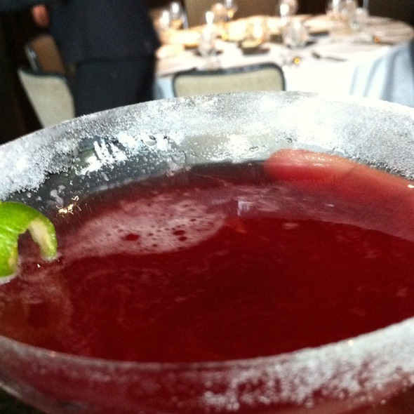 non-alcoholic strawberry puree drink @ Canlis