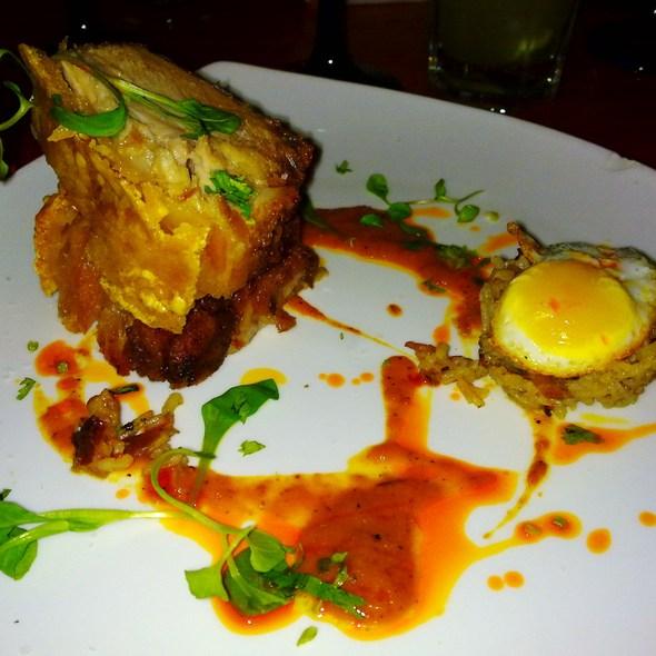 Pork Belly with Fried Quail Egg @ Brasitas Restaurant