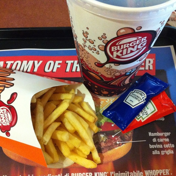 Patatine E Coca Cola @ Burger King