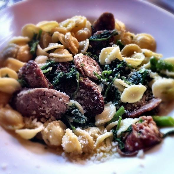 Orichette w/italian sausage, spinach, mushrooms & cheese @ Avellino's Italian Restaurant