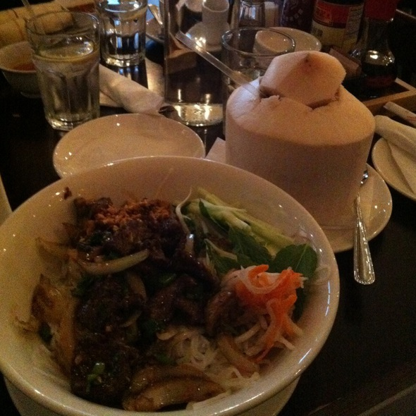 Lemongrass Beef And Fresh Young Coconut @ Via Cafe