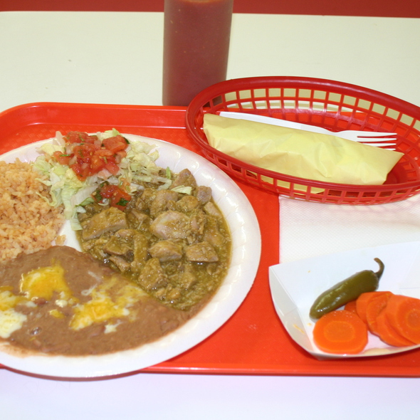 Chile Verde Pork @ El Patio Drive In