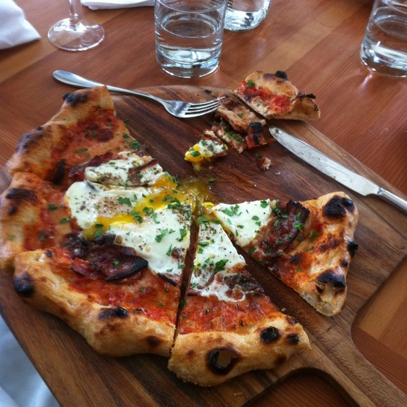 Fatm Egg Pizza @ Gather
