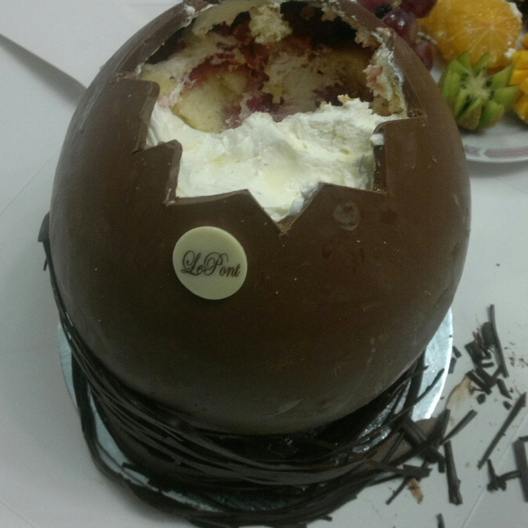 Chocolate Egg Filled with Cake