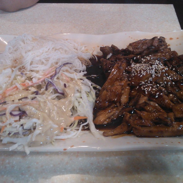 Beef And Chicken Teriyaki On Udon Noodles @ Pho Tai Vietnamese Restaurant