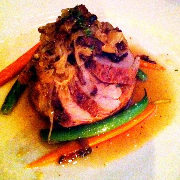 Pork Tenderloin With Red Corn Polenta Cake - Dewz, Modesto, CA