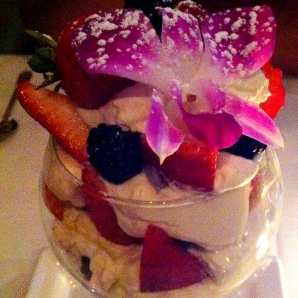 Fresh Fruit Parfait With Orange Essence Cream @ Dewz Restaurant