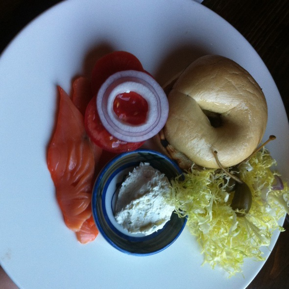 Bagel With Housemade Cream Cheese And Gravlax @ OTOTO