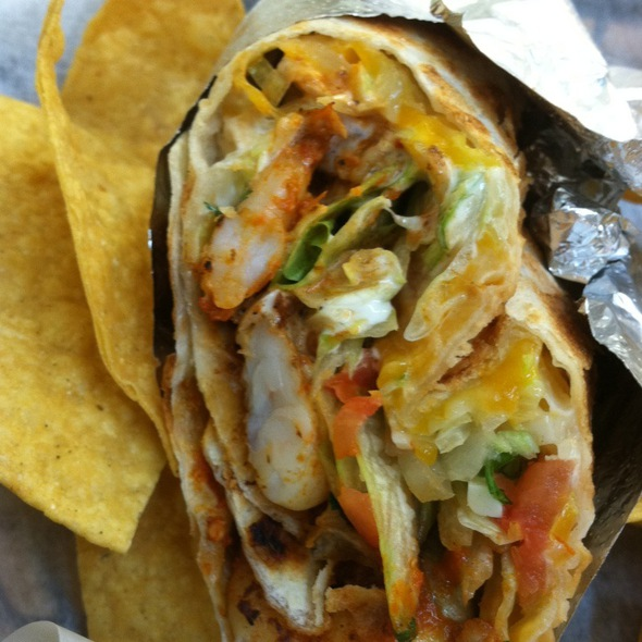 Spicy Shrimp Burrito