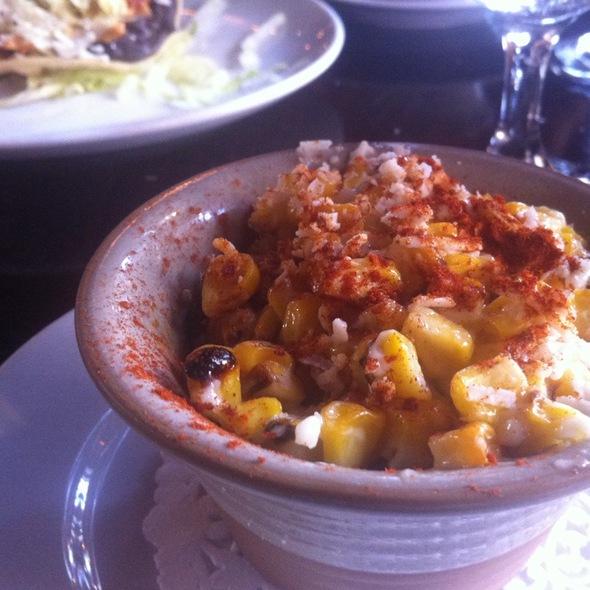 Elotes (grilled corn) @ Pelea Mexicana