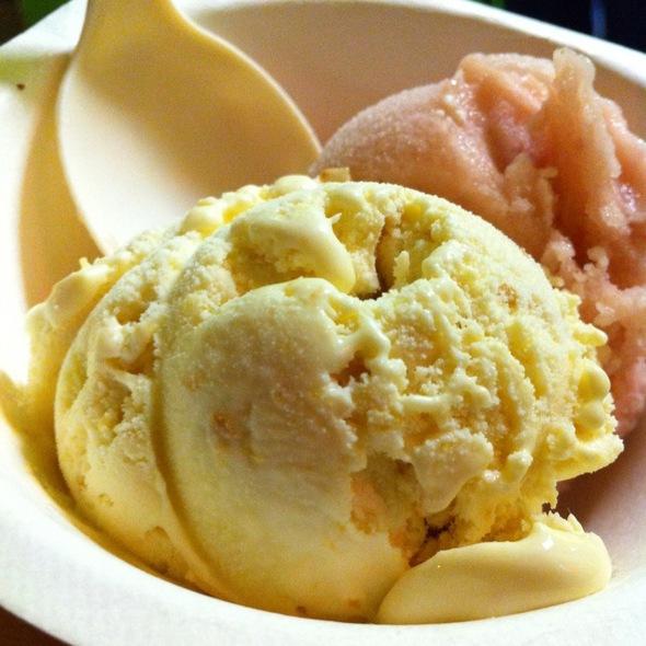 Roasted Peach Ice Cream @ Three Twins Ice Cream