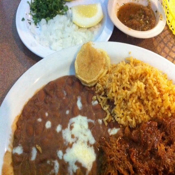 Barbacoa Plate @ Playa Baja Mexican Seafood