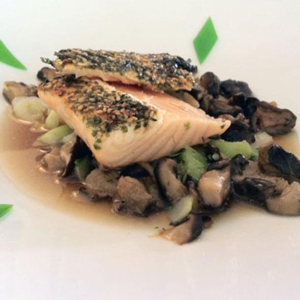Furikake Crusted Salmon - Dry Creek Kitchen, Healdsburg, CA