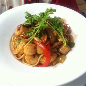 Seafood Linguini With Hoisin Sauce