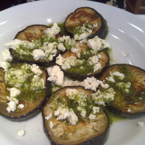 Fried eggplant with garlic and ricotta @ Gino's