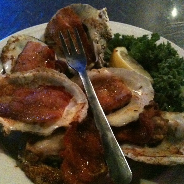 Cajun Bacon Oysters - Tony's Oyster Bar and Restaurant, Cary, NC