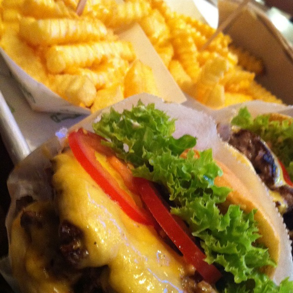 Double Shack Burger And Cheese Fries @ Shake Shack