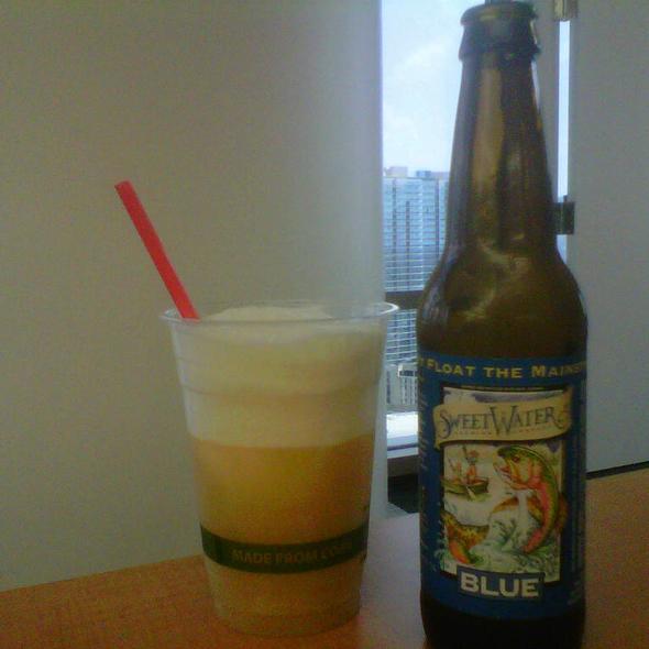 Sweet Water Blue Beer Float @ Engauge