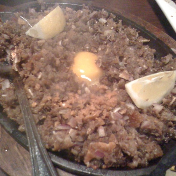Pork Sisig At Patio Filipino