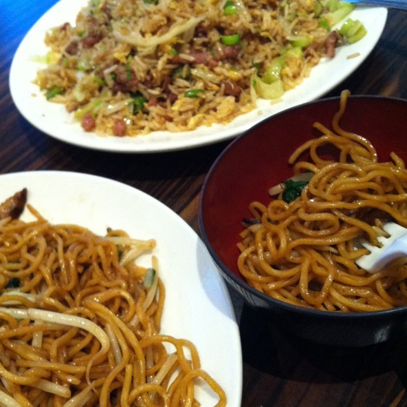 Beef Fried Rice And Veggie Noodles @ Phoenix Food Boutique