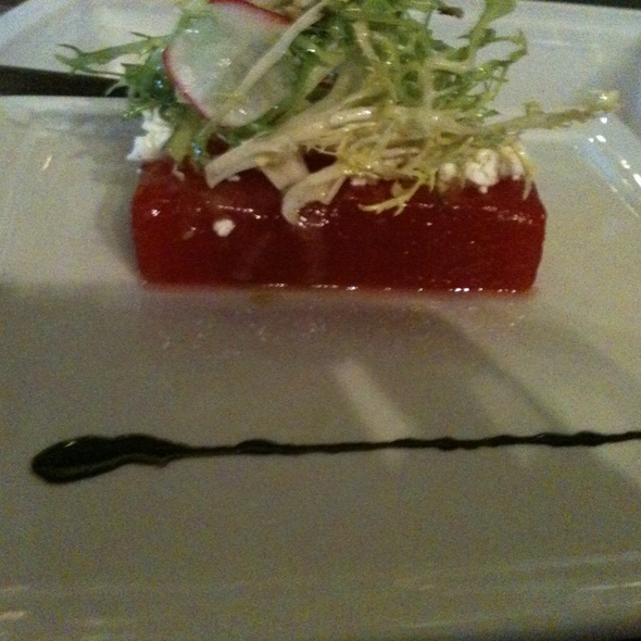 Compressed Watermelon & Goat Cheese @ Mosaic Modern Fusion Cuisine