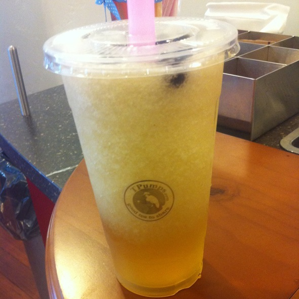 Mango Green Tea with Pearl Tapioca