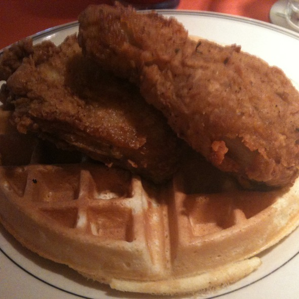 Night Train Chicken And Waffles.  @ Uptown Cafeteria and Support Group