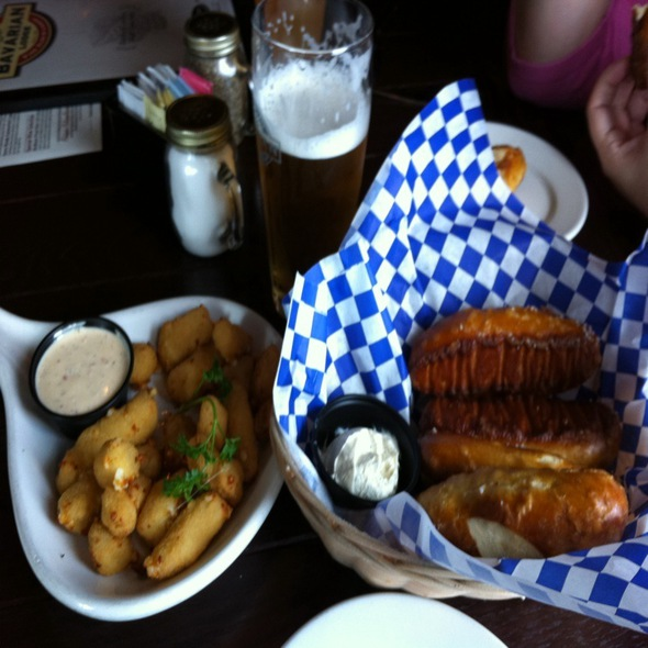 Pretzle Bascket And Cheese Curds! @ The Bavarian Lodge