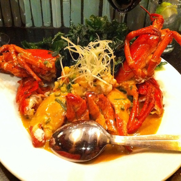 Grilled Lobster In Green Curry Broth - Chinois on Main, Santa Monica, CA